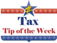 Tax Tip of the Week